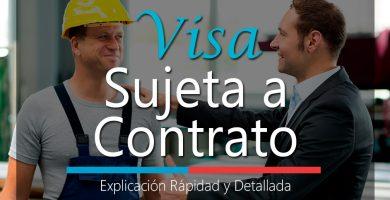 visa sujeta a contrato