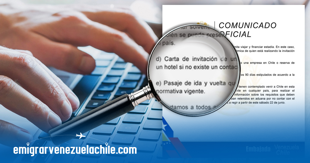 Carta de invitación para Chile
