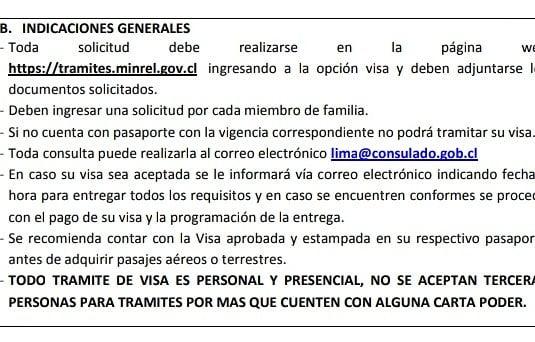 indicaciones generales para solicitar la visa de responsabilidad democratica
