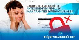 Sin acceso al sistema de antecedentes penales venezolanos